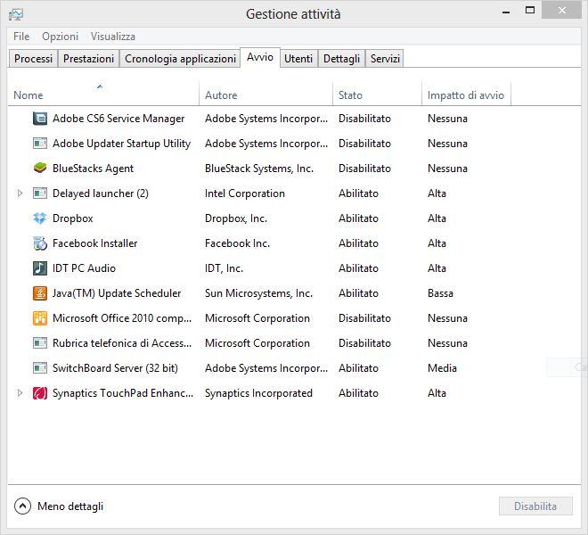 Velocizzare Windows 8