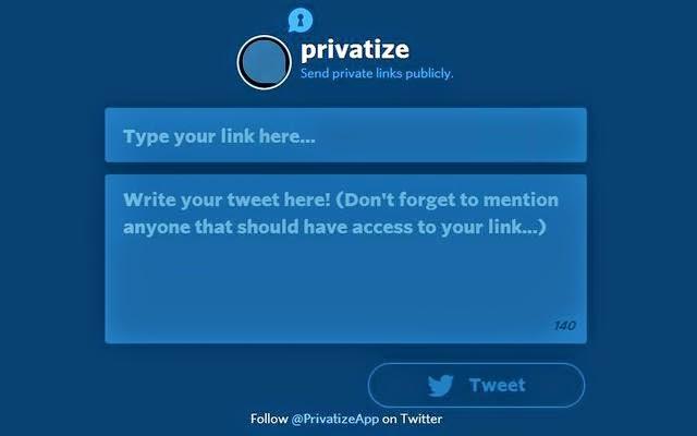 Privatize: Link privati ad un utente specifico di Twitter, GUIDA