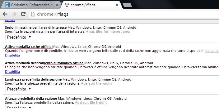 Navigare Offline su Chrome senza essere connessi ad Internet