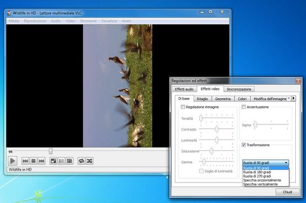 Ruotare un video con VLC