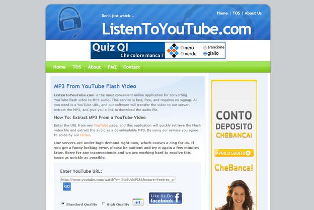 Scaricare musica MP3 da YouTube