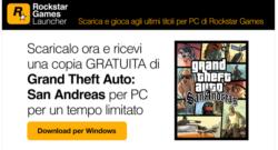 Rockstar Games Launcher disponibile da oggi con GTA San Andreas GRATIS