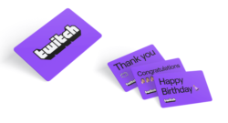 Twitch: Arrivano le Gift Cards